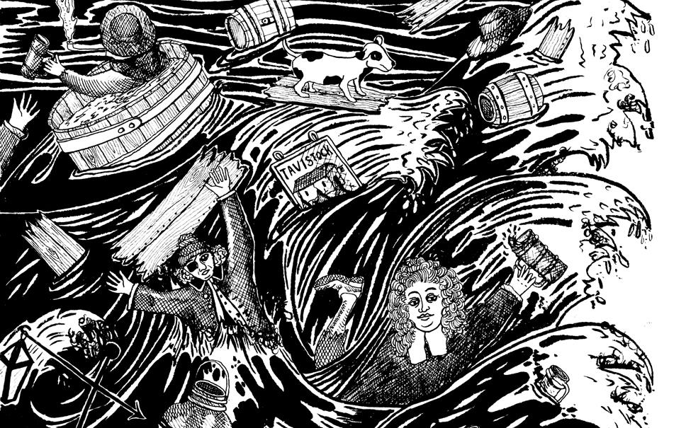 Inundación cerveza Londres aguafuerte cheve