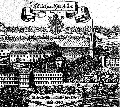 Weihenstephan grabado medieval cervecería más antigua del mundo alemania alemana