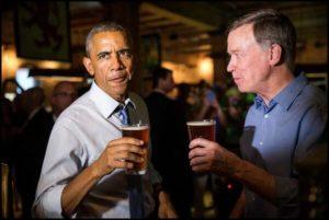 Obama cerveza determinación brindis mirada