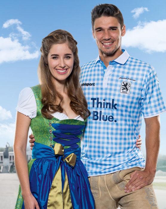 TSV 1860 Múnich Münich Okotberfest kit uniform jersey playera uniforme