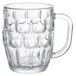 Tarro cerveza vaso cheve asa hoyuelos dimpled vacío vacía