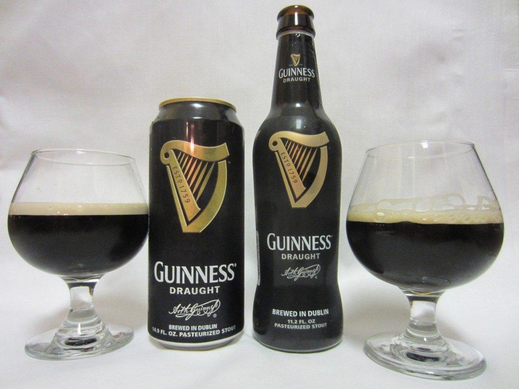 Lata botella Guinness copa stout draught cerveza oscura cheve chela negra espuma irlandesa