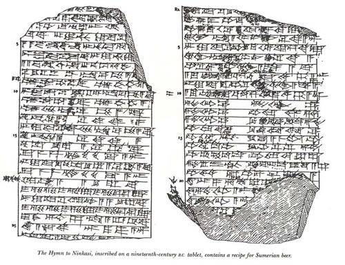 Himno Ninkasi Cerveza Mesopotamia Tablillas Hymn Sumer Sumerios Summerian